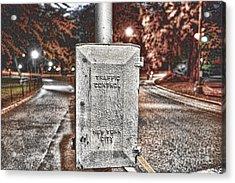 Traffic Control Box Acrylic Print by Paul Ward