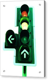 Traffic Lights Acrylic Print by Kevin Curtis