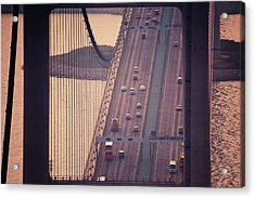 Traffic On Tsing Ma Bridge, Hong Kong, China Acrylic Print by Yiu Yu Hoi