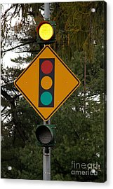 Traffic Sign Acrylic Print by Photo Researchers