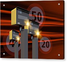Traffic Speed Cameras Acrylic Print by Victor Habbick Visions