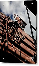 Train Car Acrylic Print by Leslie Leda