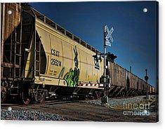 Train Graffiti Acrylic Print