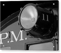 Acrylic Print featuring the photograph Train Headlight by Darleen Stry