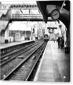 #train #trainstation #station Acrylic Print