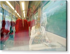 Train Travel Acrylic Print by Carlos Dominguez