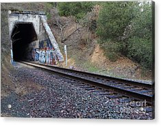 Train Tunnel At The Muir Trestle In Martinez California . 7d10228 Acrylic Print by Wingsdomain Art and Photography
