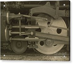 Train Wheels Acrylic Print by Photo Researchers