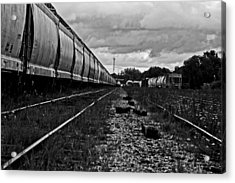 Acrylic Print featuring the photograph Train Yard by Randall  Cogle