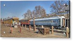 Trains Acrylic Print by Barry Jones