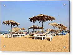 Tranquil Calangute Acrylic Print by Kantilal Patel