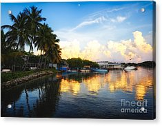 Tranquil Sunset In La Parguera Acrylic Print by George Oze