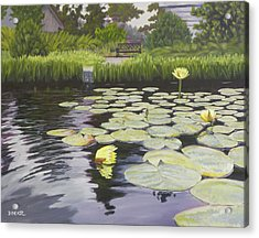 Acrylic Print featuring the painting Tranquility Furman Botanical Garden by Robert Decker