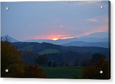 Acrylic Print featuring the photograph Tranquill Sunset by Cathy Shiflett