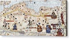 Trans-saharan Caravan Routes 1413 Acrylic Print by Sheila Terry