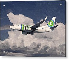 Acrylic Print featuring the painting Transavia Boeing 737 by Nop Briex
