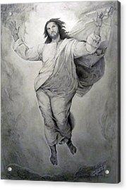 Transfiguration-raphael Acrylic Print by Miguel Rodriguez