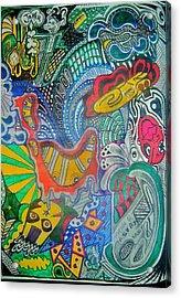 Trash Acrylic Print by Ragdoll Washburn