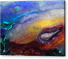 Acrylic Print featuring the digital art Travel by Richard Laeton