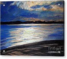 Traverse Bay Acrylic Print by Lisa Dionne