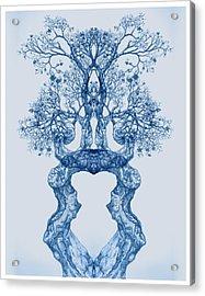 Tree 14 Blue 2 Acrylic Print
