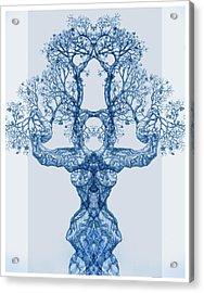 Tree 14 Blue 4 Acrylic Print