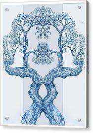 Tree 14 Blue 6 Acrylic Print