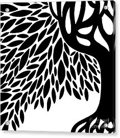 Tree Graphic Acrylic Print by HD Connelly
