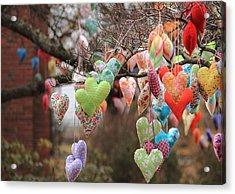 Tree Hearts Acrylic Print