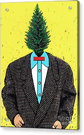Acrylic Print featuring the mixed media Tree Man by Bill Thomson