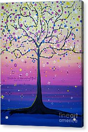 Acrylic Print featuring the painting Tree Of Inspirations by Stacey Zimmerman