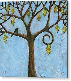 Tree Of Life Blue Sky Acrylic Print by Blenda Studio