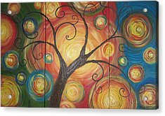 Tree Of Life  Acrylic Print by Ema Dolinar Lovsin