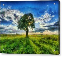 Acrylic Print featuring the painting Tree Of Life by Joe Misrasi