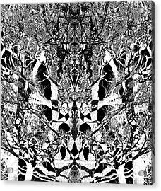 Acrylic Print featuring the digital art Tree Patterns by Michele Cornelius