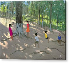Tree Swing Acrylic Print by Andrew Macara