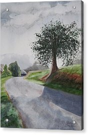 Acrylic Print featuring the painting Tree by Teresa Beyer