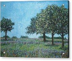 Trees Acrylic Print by Gizelle Perez