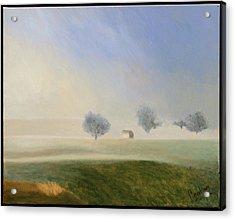 Trees In The Mist Acrylic Print by Gloria Cigolini-DePietro