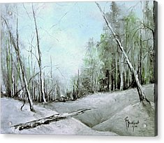 Trees In Winter #2 Acrylic Print by Robin Miller-Bookhout