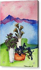 Tres Vasos Acrylic Print by Regina Ammerman