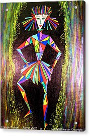 Triangle Woman Acrylic Print by Marie Schwarzer