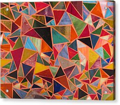 Triangles Acrylic Print by Donna Moore