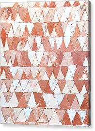 Triangular Sepia And White Waves Acrylic Print by Kazuya Akimoto