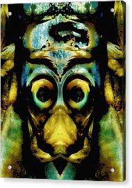 Tribal Mask Acrylic Print by Skip Nall