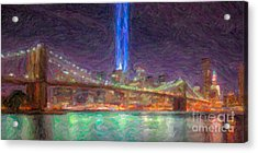 Tribute In Light Impasto Acrylic Print by Clarence Holmes