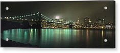 Tribute In Light, Lower Manhattan On Acrylic Print by Axiom Photographic