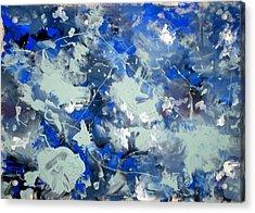 Tribute To Jackson Pollock Acrylic Print by Carlos Roberto