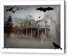 Trick Or Run Like Hell Acrylic Print by Brian Wallace