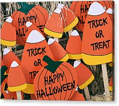 Trick Or Treat Happy Halloween Acrylic Print by Julie Palencia